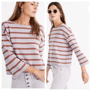 Madewell Striped Boatneck Tee Size Small
